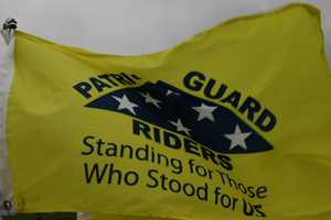 Patriot Guard Riders escorted the body from the airport to the funeral home.