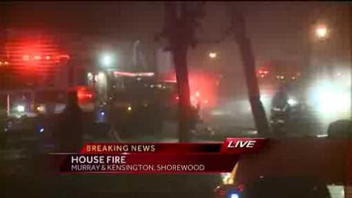 Shorewood fire scene