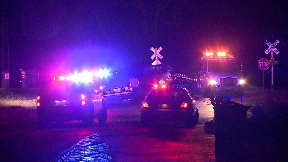 Crash involving train and vehicle