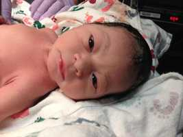 Aria Madelyn was born just after midnight on Nov. 15.