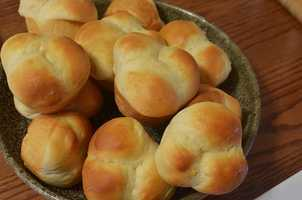 One dozen dinner rolls - $2.10.  Up from $1.93 last year.