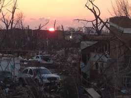 As the sun rose over Washington, Illinois, there was damage as far as the eye could see.