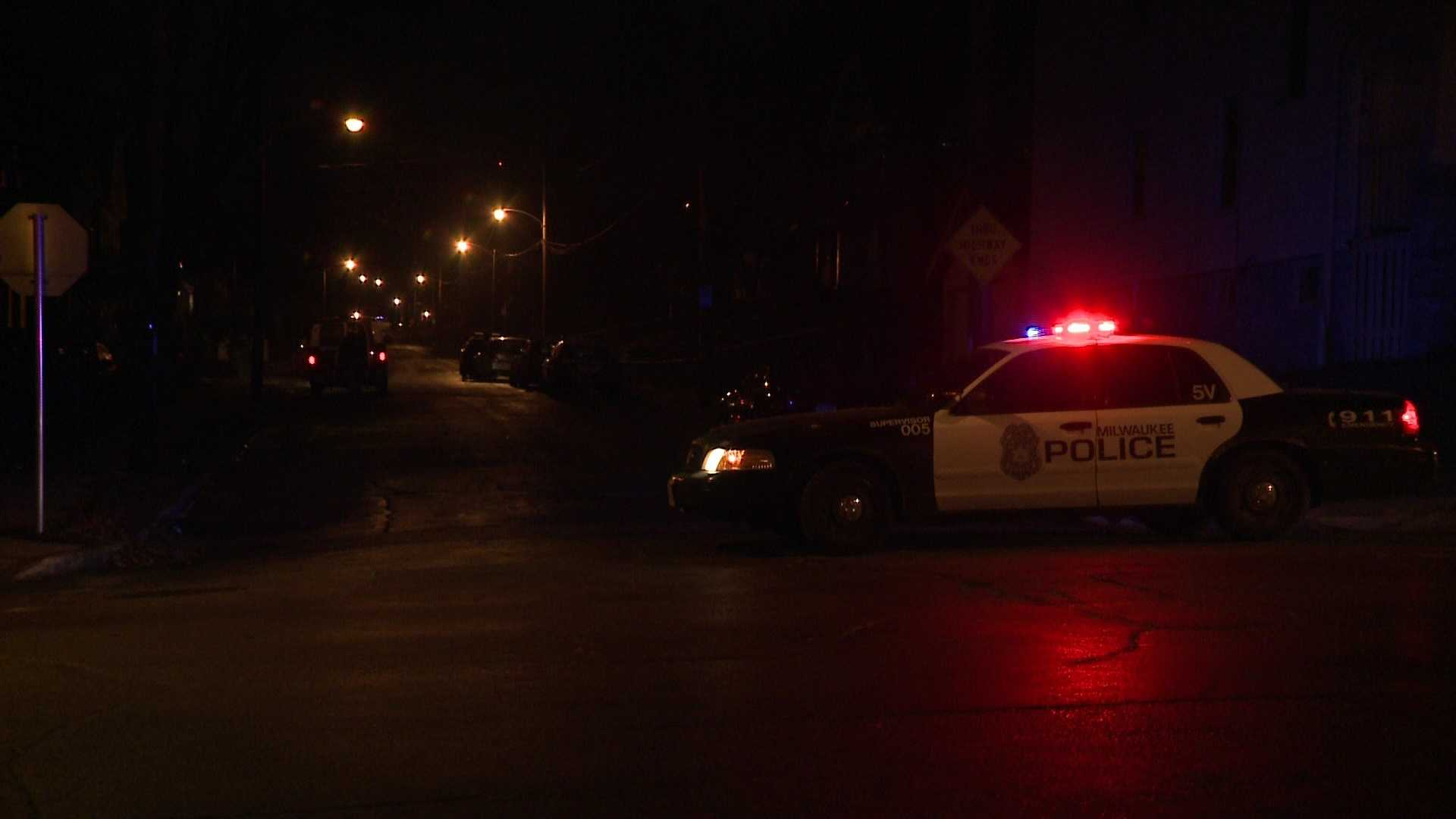 Milwaukee police investigate a double shooting and arson.