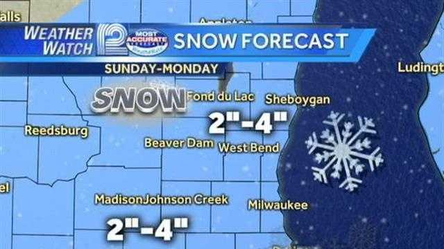Dec 8-9 snow totals