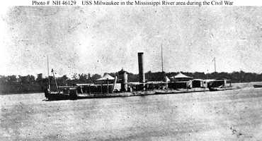 She struck a mine in March 1865 and sank. Her wreck was raised in 1868 for scrap.