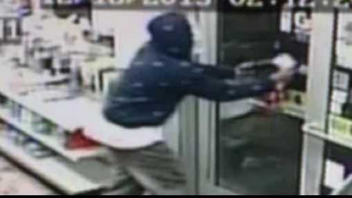 suspect flees gas station