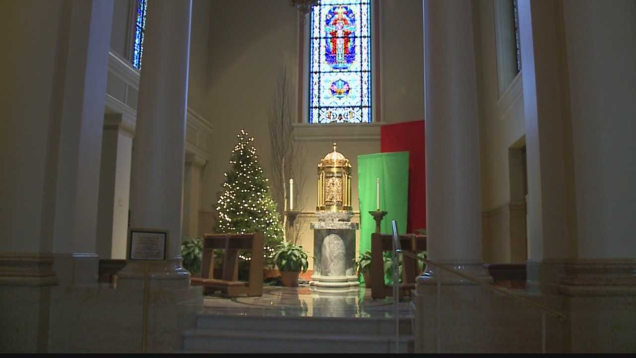 Midnight mass preparations underway at Cathedral of St. John the Evangelist