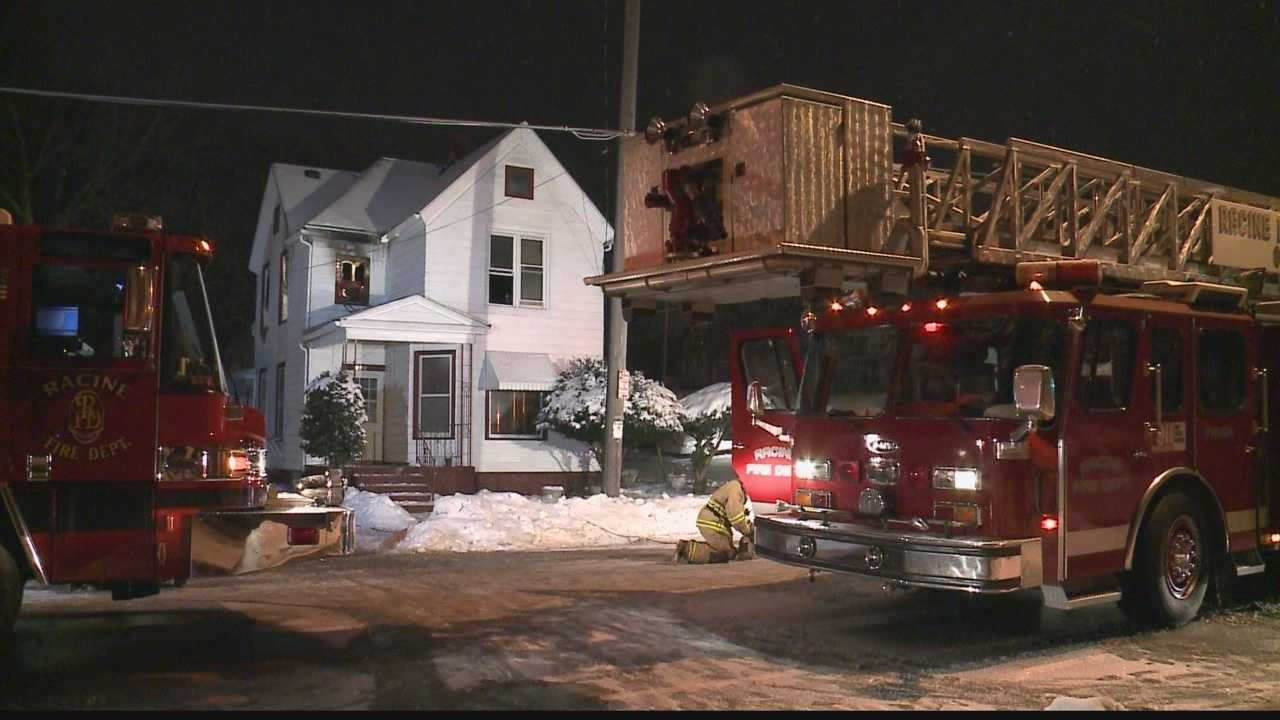 A house fire in Racine on Christmas night sends a family racing out the door, just before their holiday meal.