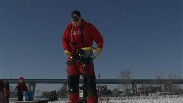 Firefighters are reminding people to use caution if they're heading out on the ice.