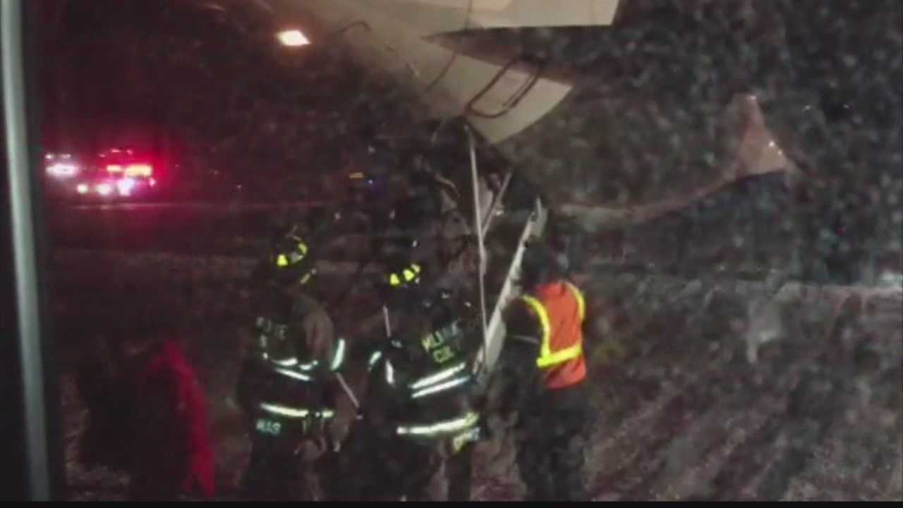 Cellphone video shows emergency exit from Milwaukee plane
