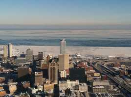 WeatherWatch 12 Meteorologist Chris Gloninger got a look from above of what Lake Michigan and Milwaukee look like in the deep freeze.