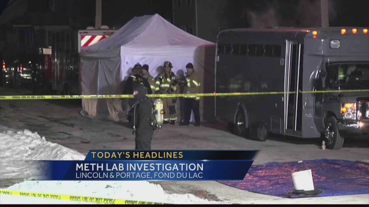 Police looking to apprehend a wanted man uncovered a meth lab inside his home.