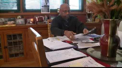 Craig Stingley with paperwork