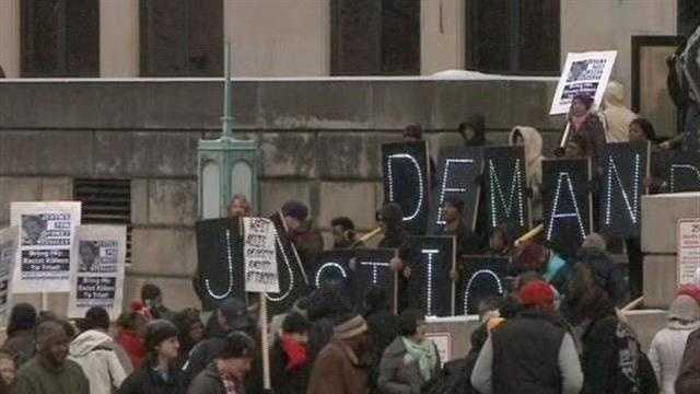 Demand Justice sign
