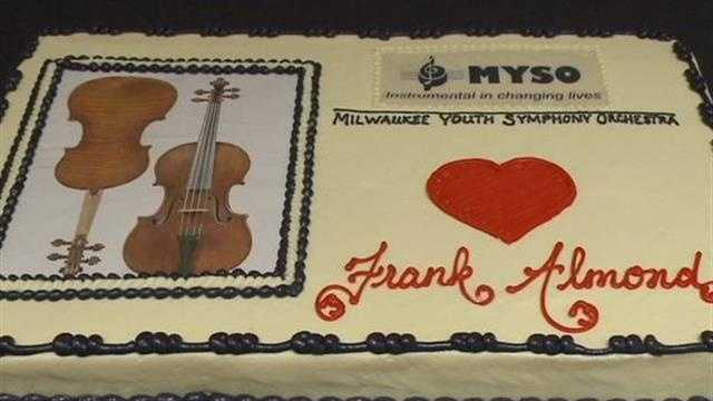 Celebration held after stolen violin returned