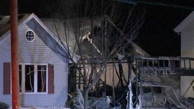 Man critically injured in fire