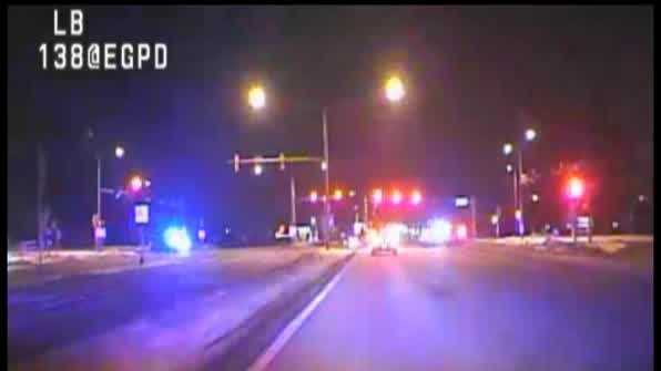 RAW: Police engage high speed chase with another officer