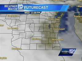 Thursday morning is expected to be a mess.  This is one model that Meteorologist Sally Severson trusted, but stay tuned to WeatherWatch 12 because they expect things to change.
