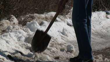 man shovels