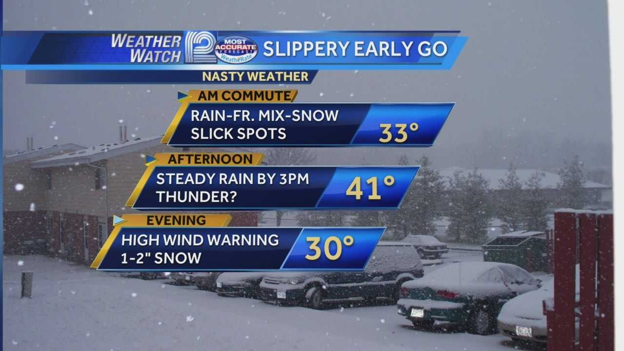 Rain and freezing rain are falling across southeast Wisconsin Thursday morning.