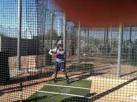 Feb. 20: Rickie Weeks takes a few swings.