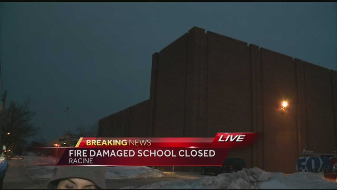 After a big fire Thursday morning, Racine Unified School District tells parents when their kids will go back to school.