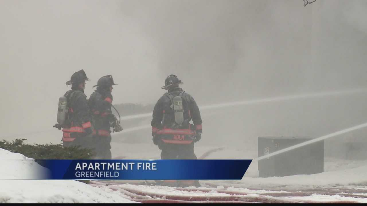 Fire destroys Greenfield apartment building