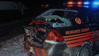 Deputy's crashed car