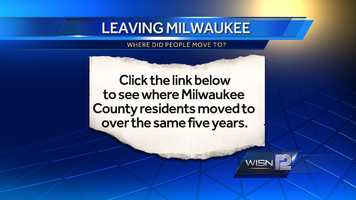 To see a list of where Milwaukee residents moved TO.. Click Here.