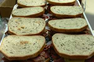 All of the corned beef is sliced fresh daily.