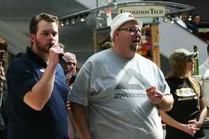 """""""Awesomefat"""", a former competitive eater, was on hand to judge/give advice/commentate."""