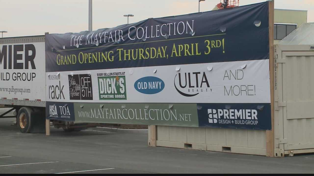 Grand opening of the Mayfair Collection site is April 3rd.