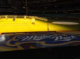 Some new lighting has been added to Miller Park this spring.