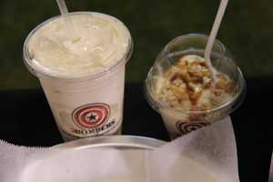 Custard and shakes are offered at A.J. Bombers new location at Miller Park.