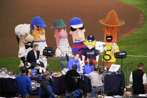 The Klement's Racing Sausages stop by.