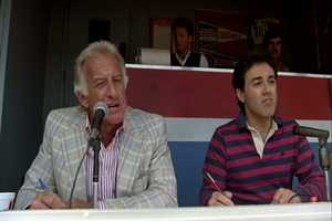 "Brewers' announcer Bob Uecker, also known as ""Mr. Baseball,"" played Indians commentator Harry Doyle."