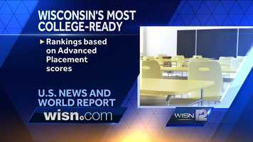 Click Next to view the Top 20 Wisconsin schools. To view the U.S. News and World Report findings, click here