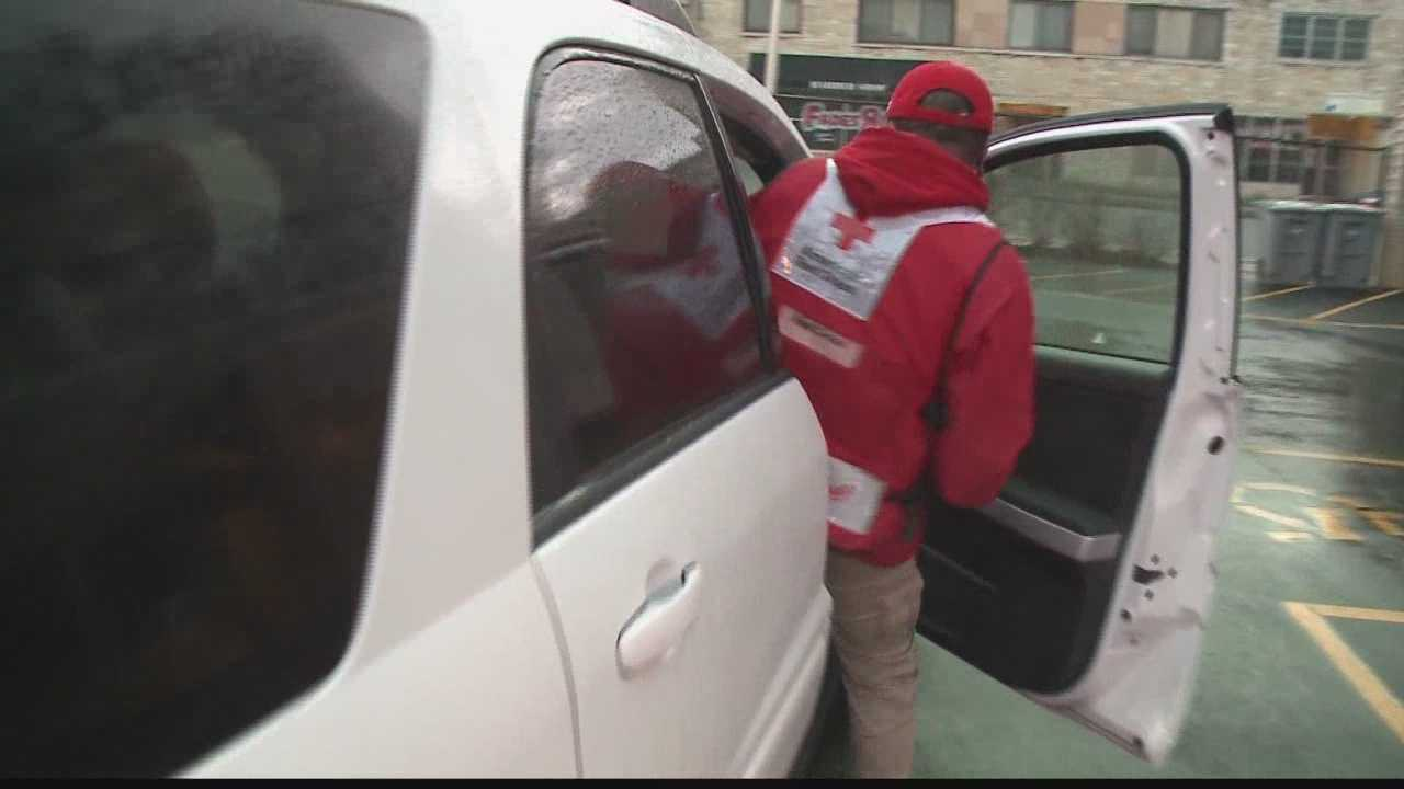 Local Red Cross volunteer is on the way to Kansas to help with the storm relief effort.