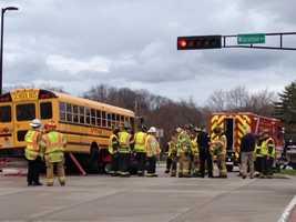 Three students had minor injuries.