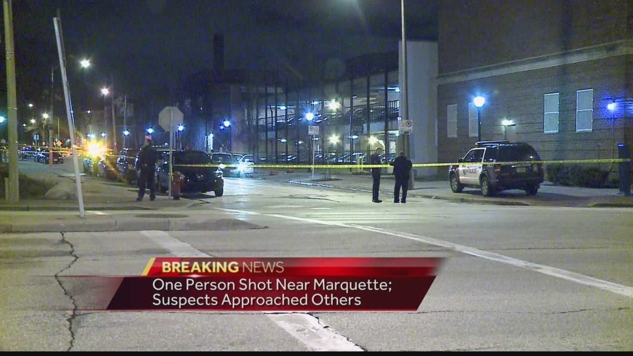 A Marquette University student was shot, and two others were robbed on campus early Friday morning.  WISN 12 News Ben Hutchison reports from the scene.