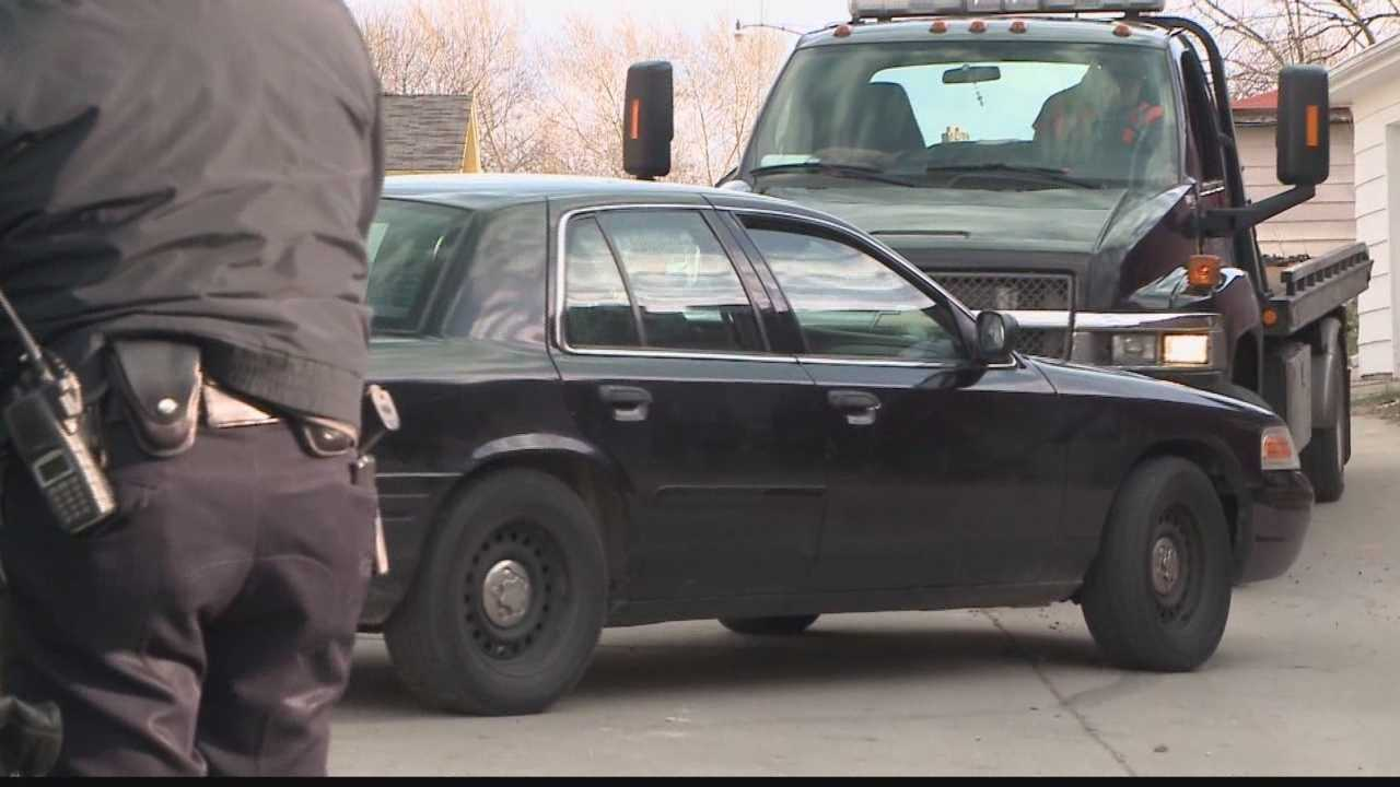 A 3-year-old boy accidentally shot himself with a gun left in his mother's car.