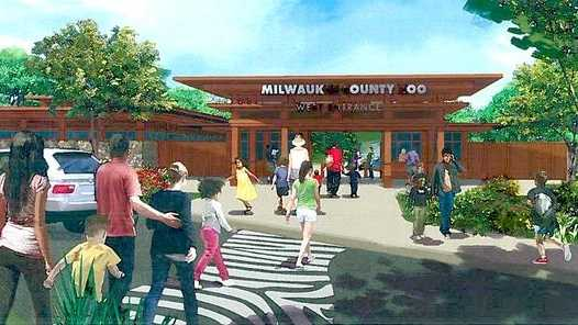 New zoo entrance