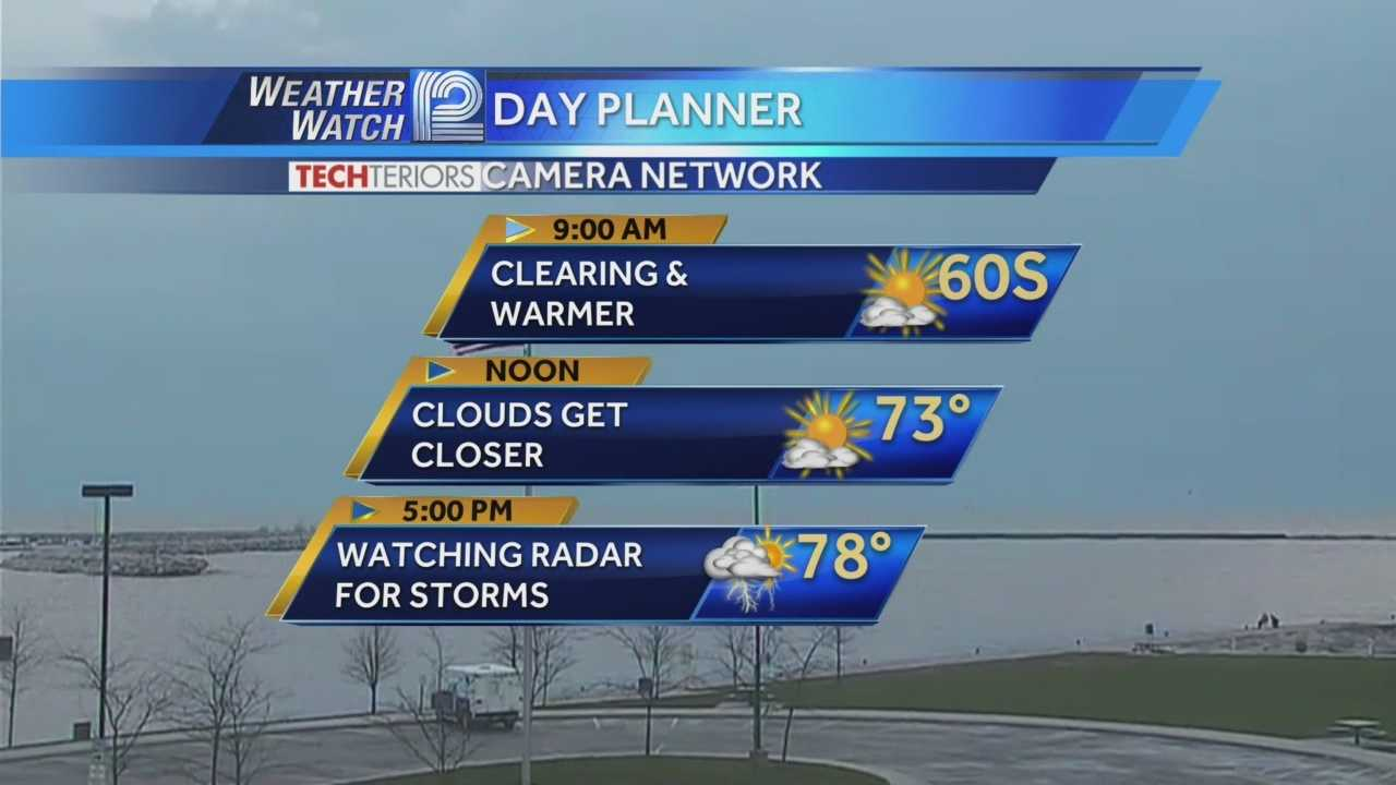 Storms will roll through later today