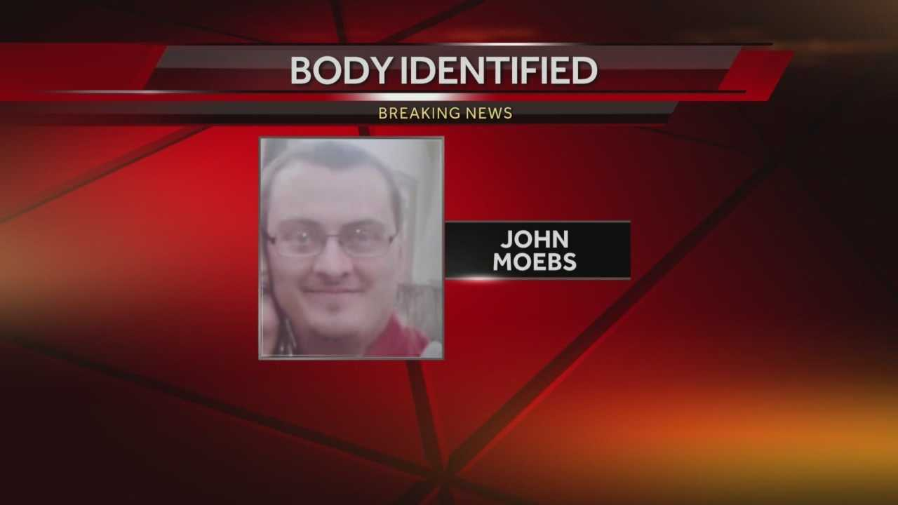 Milwaukee Police said a body found along the Lake Michigan shoreline Tuesday is that of missing 33-year-old man John Moebs.