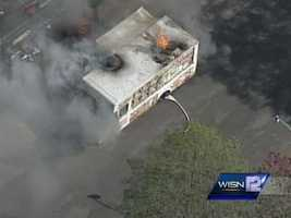 A food truck caught fire Wednesday near Union and Greenfield in Milwaukee.