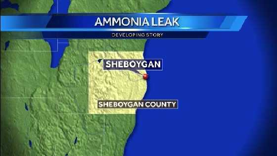 ammonia leak map