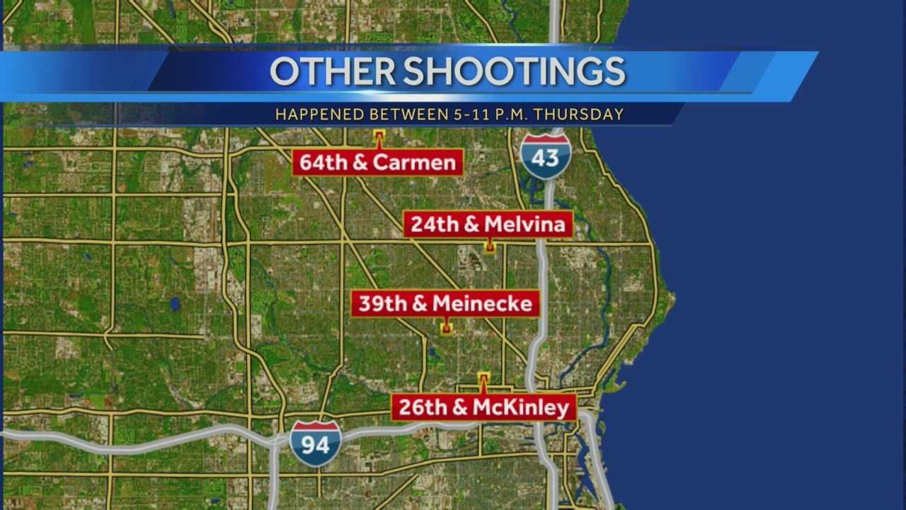 1 dead, several injured in five overnight Milwaukee shootings