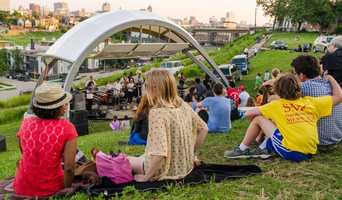 Skyline Music Series takes place at Kadish Park near Milwaukee's Riverwest neighborhood Tuesdays from 5:30pm - 8:30pmcoa-yfc.org