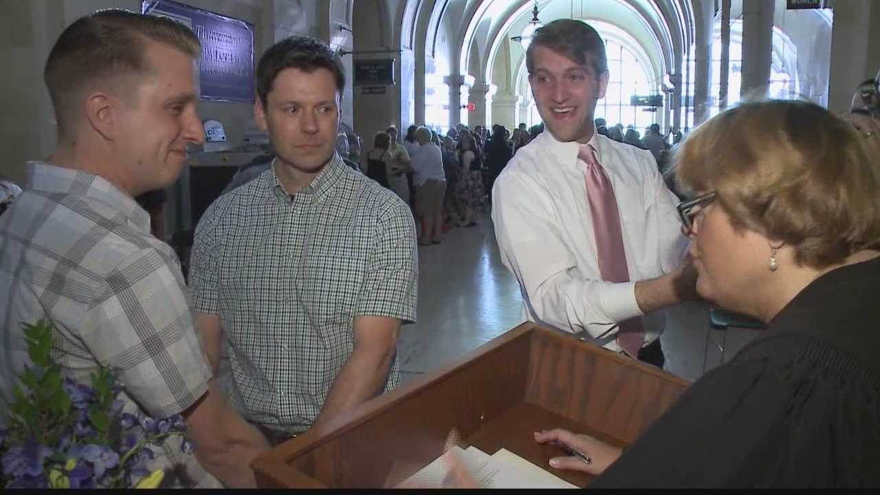 Dozens of same sex couples tie the knot in Milwaukee