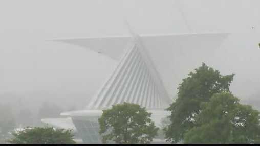 Art Museum in fog